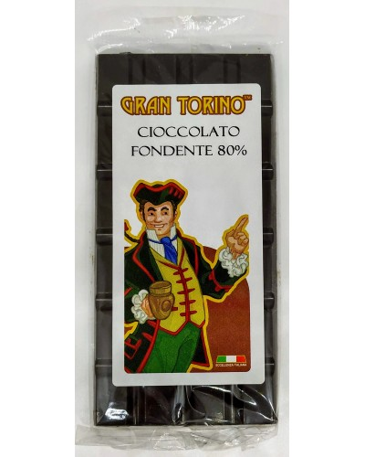 Tavoletta di Cioccolato Fondente 80% 90 gr - Gran Torino