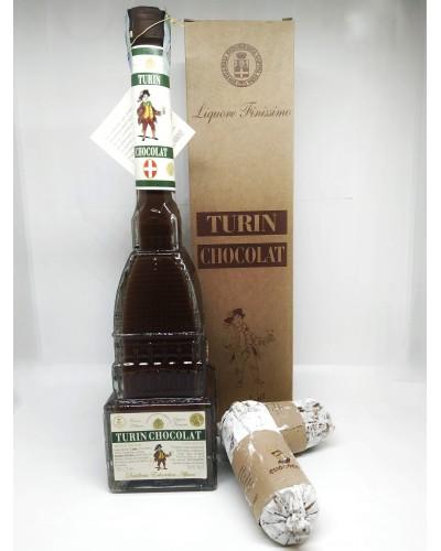 Confezione Turin Chocolate con 2 Salamini di Cioccolato
