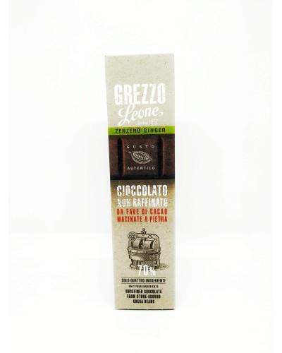 Barretta di Cioccolato Grezzo allo Zenzero 55 g