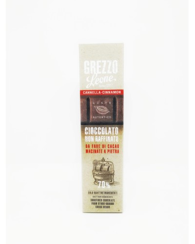 Barretta di Cioccolato Grezzo alla Cannella Leone