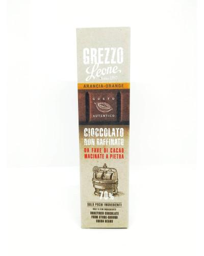Barretta di Cioccolato Grezzo all'Arancia 55 gr