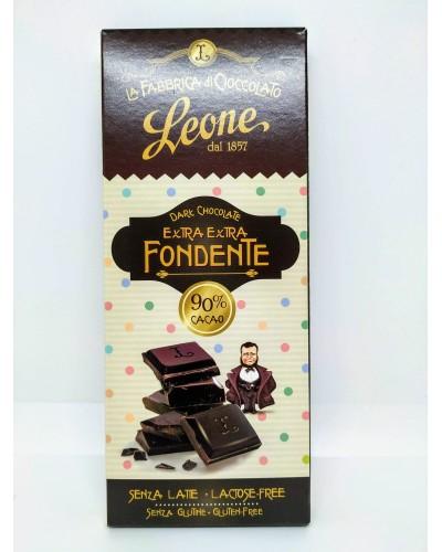 Barretta di Cioccolato Extra Extra Fondente 90% cacao Leone